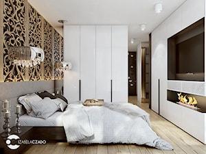 Sypialnia nowoczesna z elementami glamour - zdjęcie od ProjecTOWN Izabela Czado
