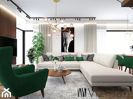 Aranżacje wnętrz - Salon: Salon w stylu modern retro - Vizman Design. Przeglądaj, dodawaj i zapisuj najlepsze zdjęcia, pomysły i inspiracje designerskie. W bazie mamy już prawie milion fotografii!