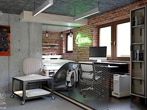 Industrialny pokój nastolatka - Pokój dziecka, styl industrialny - zdjęcie od KRWC Design