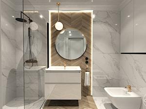 Róż Paryski delikatność i kobiecość - Średnia łazienka w bloku w domu jednorodzinnym bez okna, styl nowojorski - zdjęcie od ALMINAS WNĘTRZA