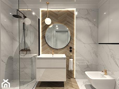 Aranżacje wnętrz - Łazienka: Róż Paryski delikatność i kobiecość - Średnia łazienka w bloku w domu jednorodzinnym bez okna, styl nowojorski - ALMINAS WNĘTRZA. Przeglądaj, dodawaj i zapisuj najlepsze zdjęcia, pomysły i inspiracje designerskie. W bazie mamy już prawie milion fotografii!