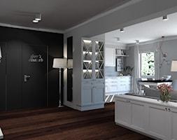 Klasyczna elegancja - Mały szary czarny salon, styl klasyczny - zdjęcie od ALMINAS WNĘTRZA
