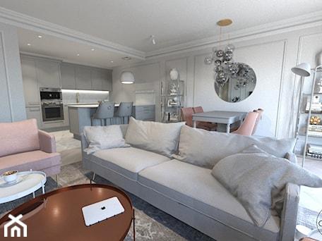 Aranżacje wnętrz - Salon: Róż Paryski delikatność i kobiecość - ALMINAS WNĘTRZA. Przeglądaj, dodawaj i zapisuj najlepsze zdjęcia, pomysły i inspiracje designerskie. W bazie mamy już prawie milion fotografii!