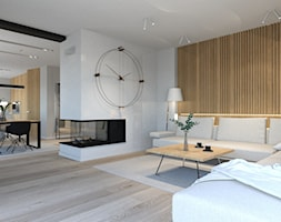 Nowoczesny salon, naturalne wnętrza - zdjęcie od ALMINAS WNĘTRZA - Homebook