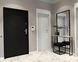 Mieszkanie ZEN - Duży szary hol / przedpokój - zdjęcie od ALMINAS WNĘTRZA - Homebook