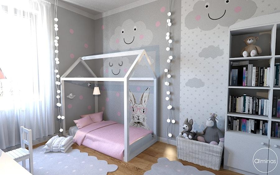 Aranżacje wnętrz - Pokój dziecka: Skandynawski w ciepłym różem paryskim - Mały szary pokój dziecka dla chłopca dla dziewczynki dla ucznia dla malucha, styl skandynawski - ALMINAS WNĘTRZA. Przeglądaj, dodawaj i zapisuj najlepsze zdjęcia, pomysły i inspiracje designerskie. W bazie mamy już prawie milion fotografii!