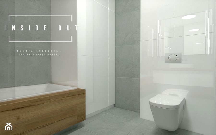 Mieszkanie na Osiedlu Maciejka v2 - Łazienka, styl nowoczesny - zdjęcie od INSIDE OUT Dorota Lubowicka Projektowanie Wnętrz