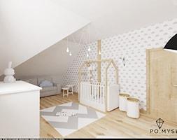 Pokój dla niemowlaka na poddaszu. - zdjęcie od PO.MYSŁ
