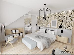 Sypialnia z naturalnym akcentem. - zdjęcie od PO.MYSŁ