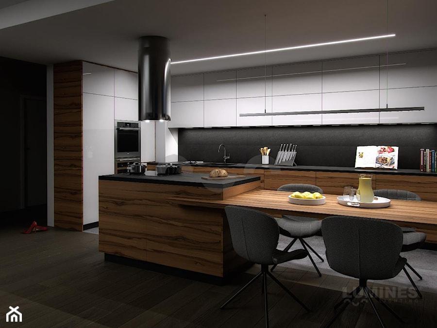 Aranżacje wnętrz - Kuchnia: Otwarta kuchnia z oświetleniem LED - Lumines Lighting. Przeglądaj, dodawaj i zapisuj najlepsze zdjęcia, pomysły i inspiracje designerskie. W bazie mamy już prawie milion fotografii!