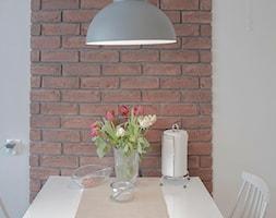 Realizacja domu jednorodzinnego - Mała otwarta zamknięta szara jadalnia w kuchni w salonie jako osobne pomieszczenie, styl nowoczesny - zdjęcie od Projektowanie wnętrz Karolina Rożek