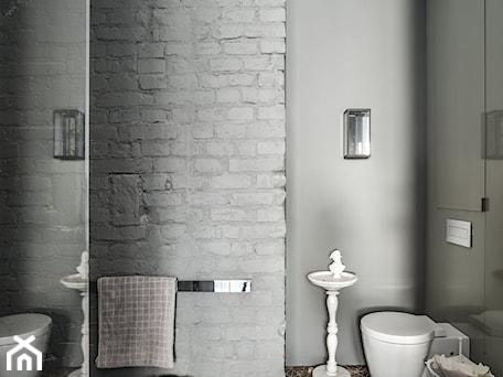 Aranżacje wnętrz - Łazienka: Garsoniera na Mokotowie - Średnia szara łazienka w bloku w domu jednorodzinnym bez okna, styl eklektyczny - Anna Koszela. Architekt wnętrz. Przeglądaj, dodawaj i zapisuj najlepsze zdjęcia, pomysły i inspiracje designerskie. W bazie mamy już prawie milion fotografii!
