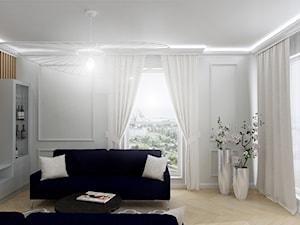 Nowojorska elegancja - Salon, styl nowojorski - zdjęcie od oaky studio