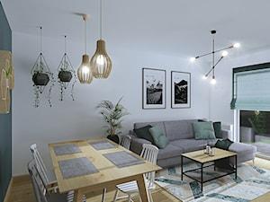 Szczypta Skandynawii - Salon, styl skandynawski - zdjęcie od oaky studio