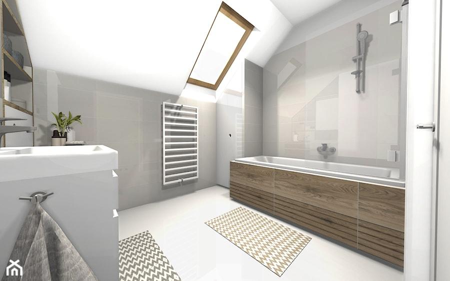 Dom w stylu skandnawskim / Łazienka na poddaszu - zdjęcie od HABITAT DESIGN Magdalena Ślusarczyk