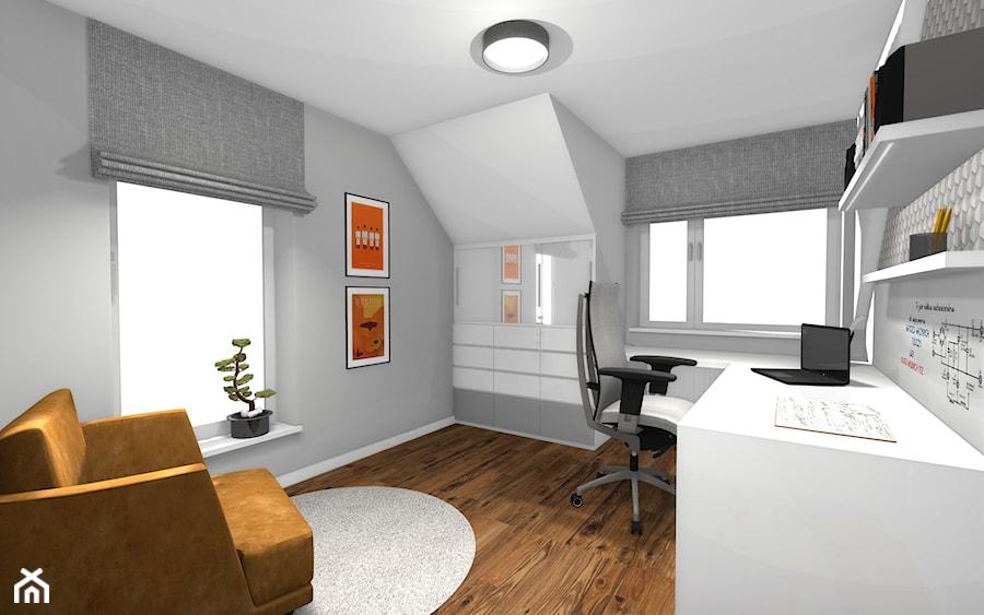 Dom pod Orzechem / Domowe biuro na poddaszu - zdjęcie od HABITAT DESIGN Magdalena Ślusarczyk