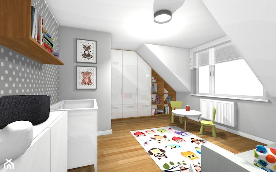 Aranżacje wnętrz - Pokój dziecka: Dom pod Orzechem / Pokój maluszka - HABITAT DESIGN Magdalena Ślusarczyk. Przeglądaj, dodawaj i zapisuj najlepsze zdjęcia, pomysły i inspiracje designerskie. W bazie mamy już prawie milion fotografii!