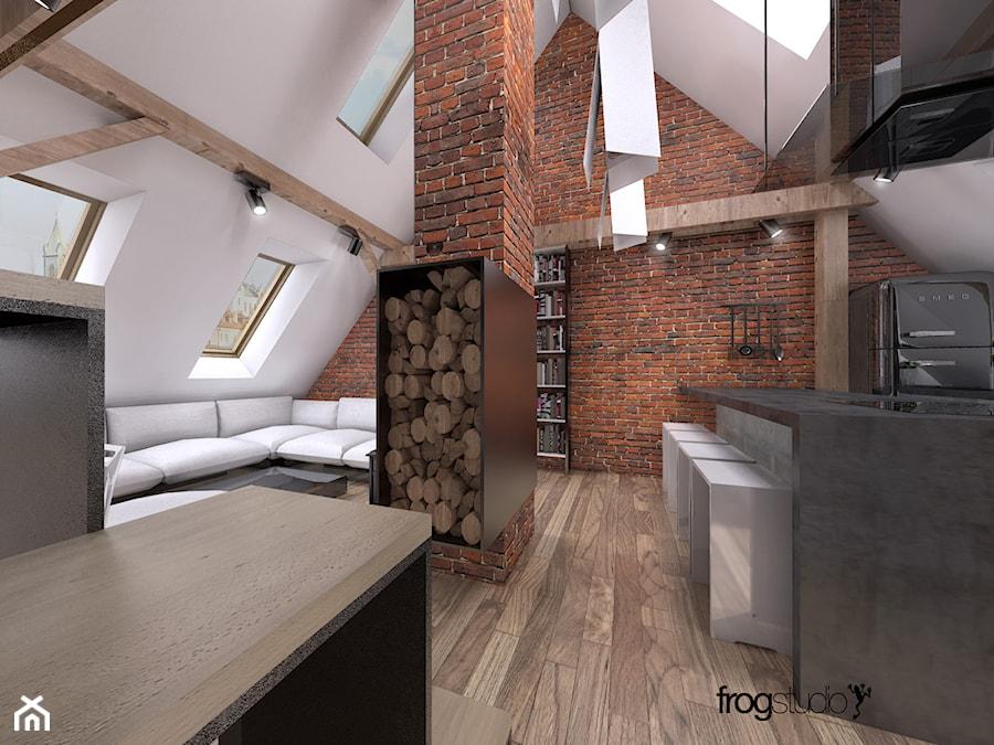 mieszkanie na poddaszu  zdjęcie od frog studio -> Inspiracje Kuchni Na Poddaszu