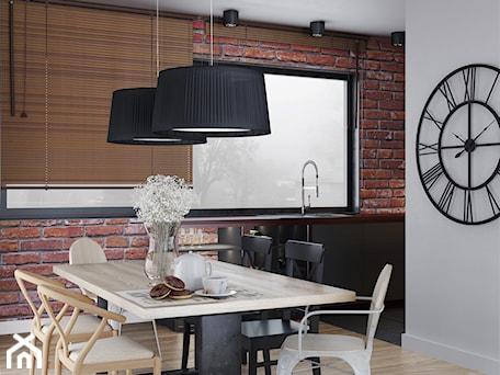 Aranżacje wnętrz - Jadalnia: Cegła i drewno w jadalni - igloo studio. Przeglądaj, dodawaj i zapisuj najlepsze zdjęcia, pomysły i inspiracje designerskie. W bazie mamy już prawie milion fotografii!