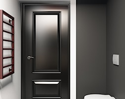 Łazienka w kolorach bieli i czerni - zdjęcie od igloo studio - Homebook