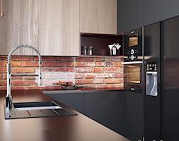 Cegła w industrialnej kuchni - zdjęcie od igloo studio - Homebook