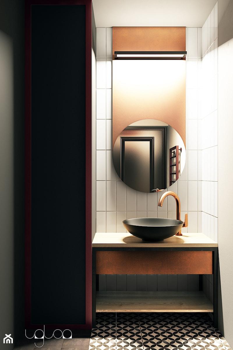 Industrialna łazienka z elementami miedzi - zdjęcie od igloo studio