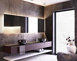 Łazienka w odcieniach grafitu i bordo - zdjęcie od igloo studio - Homebook