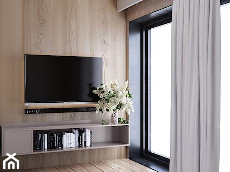 Aranżacje wnętrz - Salon: Ściana tv wykończona drewnem - igloo studio. Przeglądaj, dodawaj i zapisuj najlepsze zdjęcia, pomysły i inspiracje designerskie. W bazie mamy już prawie milion fotografii!