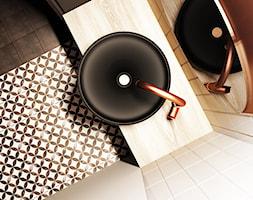 Industrialna łazienka z elementami miedzi - zdjęcie od igloo studio - Homebook