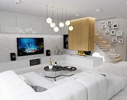 Smooth house - Średni szary salon, styl nowoczesny - zdjęcie od MoonfieldStudio