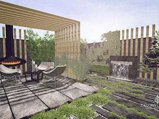 Ogród nowoczesny, bez trawnika