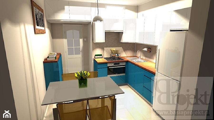Kuchnia  styl Nowoczesny -> Niebieska Kuchnia Inspiracje
