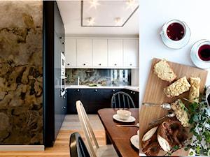Mieszkanie w Gdyni - Średnia otwarta szara kuchnia w kształcie litery u z oknem, styl eklektyczny - zdjęcie od Kowalczyk Gajda Studio Projektowe