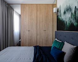 Mieszkanie Gdańsk Niepołomicka - Mała biała sypialnia małżeńska, styl klasyczny - zdjęcie od Kowalczyk Gajda Studio Projektowe - Homebook