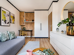 Mieszkanie Gdańsk Śródmieście - Średnia biała sypialnia dla gości małżeńska, styl eklektyczny - zdjęcie od Kowalczyk Gajda Studio Projektowe