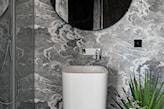 lustro, umywalka wolnostojaca - zdjęcie od Kowalczyk Gajda Studio Projektowe - Homebook