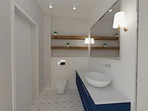 Łazienka granatowa z toaletką - zdjęcie od MGArchitekci.pl