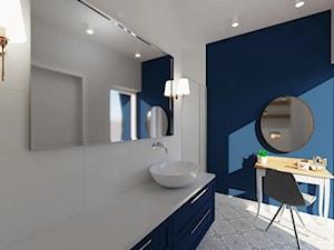 Łazienka Granatowa – aranżacja pomieszczenia