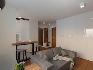 Mieszkanie na Woli - Salon otwarty na kuchnię