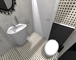 Apartament Glamour w Lublinie - Mała czarna szara łazienka w bloku w domu jednorodzinnym bez okna, styl nowoczesny - zdjęcie od Piękne Wnętrza Agata Smolińska