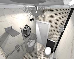 Apartament Glamour w Lublinie - Średnia czarna łazienka w bloku w domu jednorodzinnym bez okna, styl nowoczesny - zdjęcie od Piękne Wnętrza Agata Smolińska