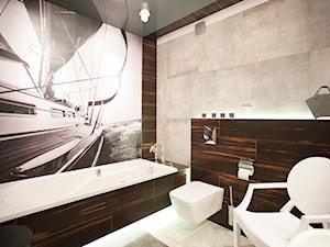 Nowoczesny segment w Lublinie - Średnia kolorowa łazienka w bloku w domu jednorodzinnym bez okna, styl nowoczesny - zdjęcie od Piękne Wnętrza Agata Smolińska