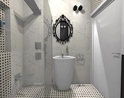 Apartament Glamour w Lublinie - Mała łazienka w bloku w domu jednorodzinnym bez okna, styl nowoczesny - zdjęcie od Piękne Wnętrza Agata Smolińska