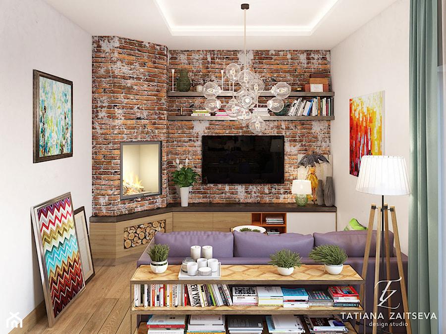Dom w style boho. - Mały szary salon - zdjęcie od tz-interior.com