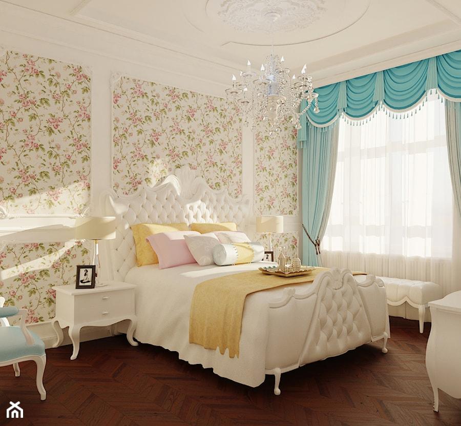 Sypialnia Rokoko 1 średnia Beżowa Sypialnia Małżeńska