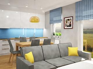 Mieszkanie z wydzieloną sypialnią w salonie