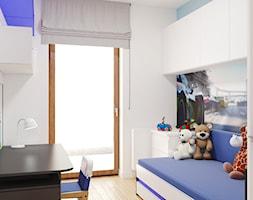 Mieszkanie na Ursynowie - Mały biały pokój dziecka dla chłopca dla dziewczynki dla ucznia dla malucha dla nastolatka - zdjęcie od Pracownia projektowa - mgr inż. arch. Agnieszka Surosz