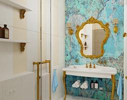 Łazienka inspirowana stylem rokoko 3 - Średnia łazienka w bloku w domu jednorodzinnym bez okna, styl klasyczny - zdjęcie od Pracownia projektowa - mgr inż. arch. Agnieszka Surosz