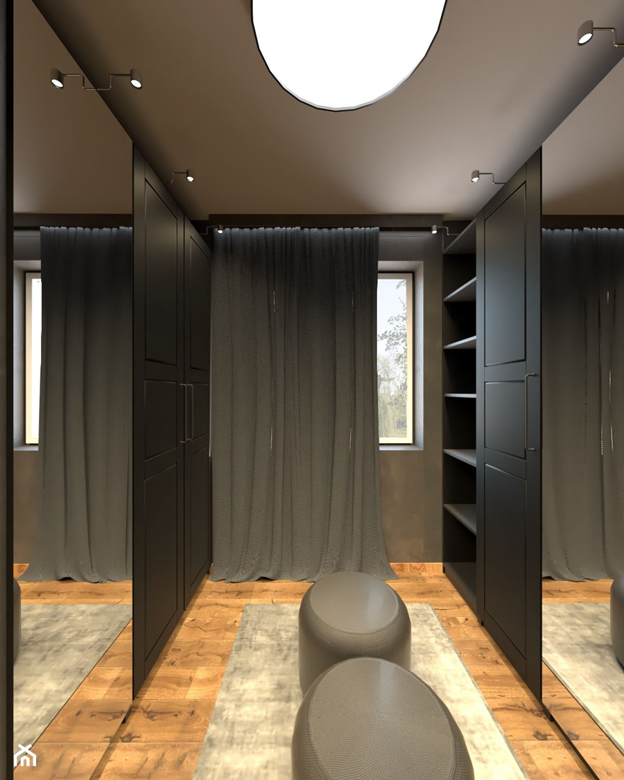 Garderoba dla mężczyzny - zdjęcie od Załęska projektowanie wnętrz