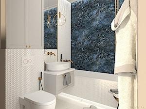 Elegancka łazienka z nutą glamour